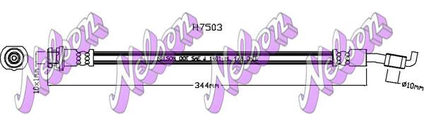 Flexible de frein BROVEX-NELSON H7503 (X1)