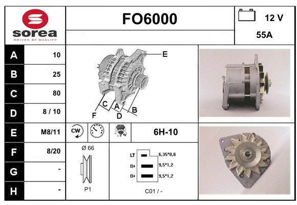 Alternateur SERA FO6000 (X1)