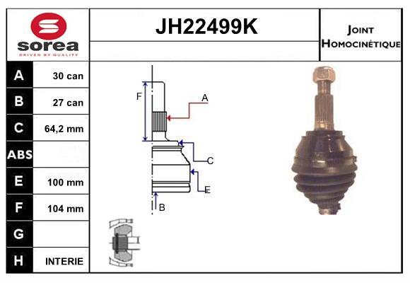 Joints spi/homocinetiques SERA JH22499K (X1)