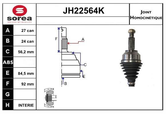 Joints spi/homocinetiques SERA JH22564K (X1)