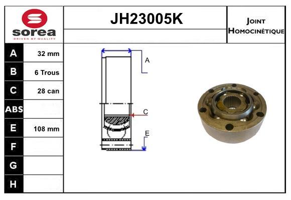 Joints spi/homocinetiques SERA JH23005K (X1)