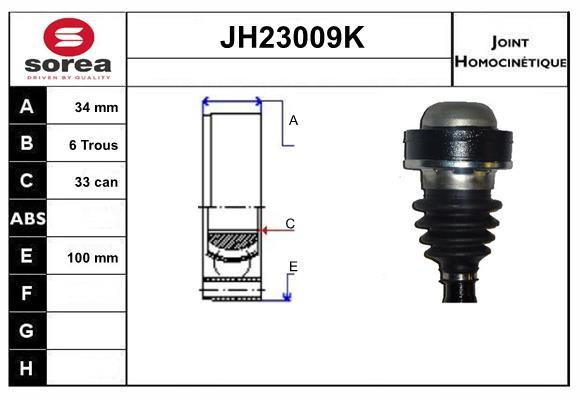Joints spi/homocinetiques SERA JH23009K (X1)