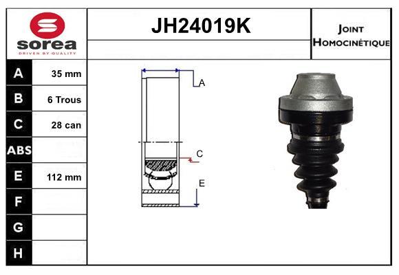 Joints spi/homocinetiques SERA JH24019K (X1)
