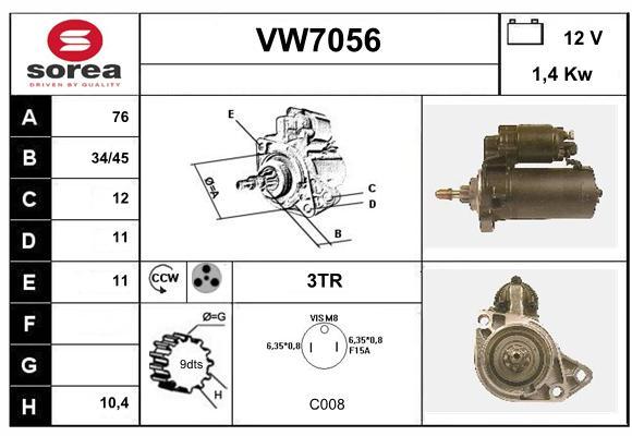 Demarreur SERA VW7056 (X1)