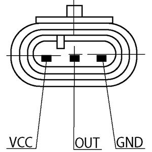 Capteur, pression du tuyau d'admission HC-Cargo 182049 (X1)