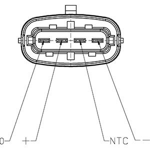Capteur, pression du tuyau d'admission HC-Cargo 182129 (X1)