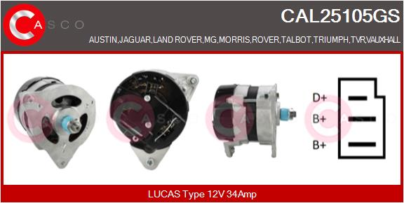 Alternateur CASCO CAL25105GS (X1)