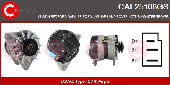 Alternateur CASCO CAL25106GS (X1)