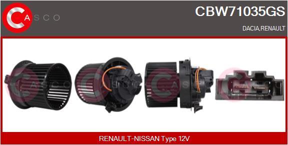 Chauffage et climatisation CASCO CBW71035GS (X1)