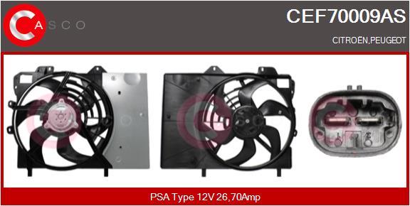 Moteur de ventilateur refroidissement CASCO CEF70009AS (X1)