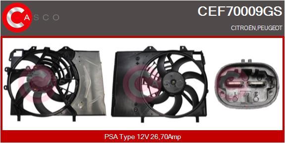 Moteur de ventilateur refroidissement CASCO CEF70009GS (X1)
