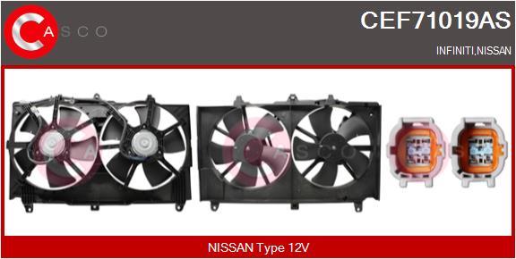 Moteur de ventilateur refroidissement CASCO CEF71019AS (X1)