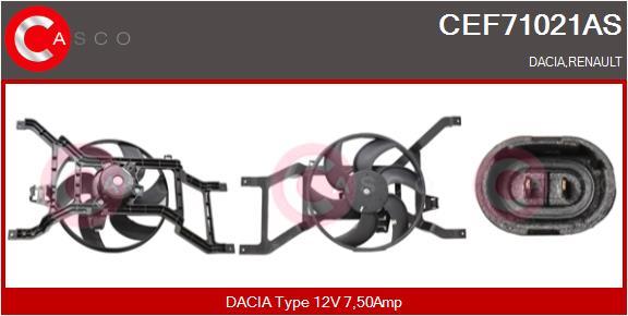 Moteur de ventilateur refroidissement CASCO CEF71021AS (X1)