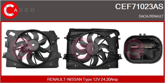 Moteur de ventilateur refroidissement CASCO CEF71023AS (X1)