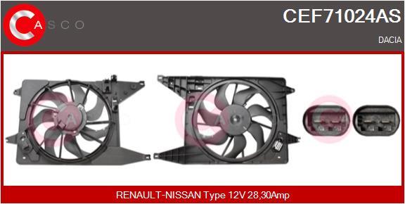 Moteur de ventilateur refroidissement CASCO CEF71024AS (X1)