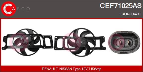 Moteur de ventilateur refroidissement CASCO CEF71025AS (X1)