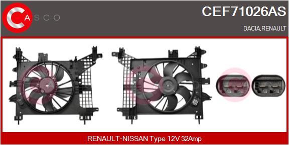 Moteur de ventilateur refroidissement CASCO CEF71026AS (X1)