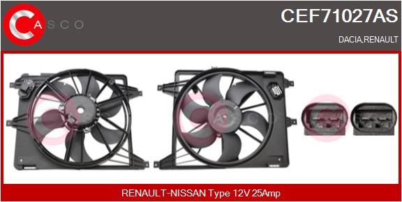 Moteur de ventilateur refroidissement CASCO CEF71027AS (X1)