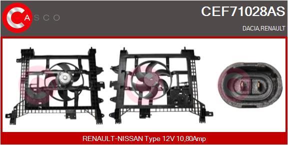 Moteur de ventilateur refroidissement CASCO CEF71028AS (X1)