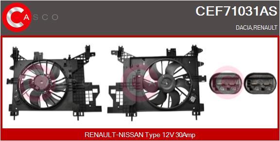 Moteur de ventilateur refroidissement CASCO CEF71031AS (X1)