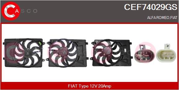Moteur de ventilateur refroidissement CASCO CEF74029GS (X1)