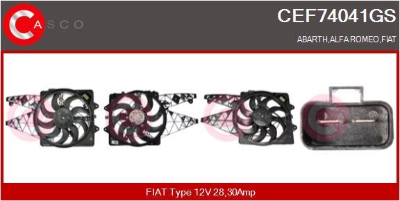 Moteur de ventilateur refroidissement CASCO CEF74041GS (X1)