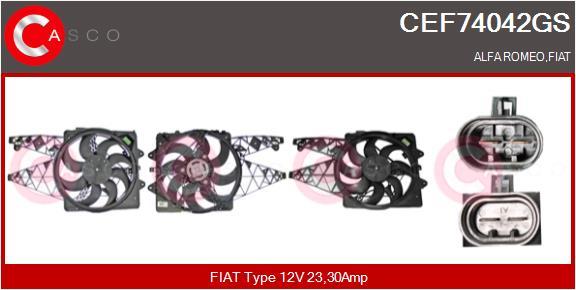 Moteur de ventilateur refroidissement CASCO CEF74042GS (X1)