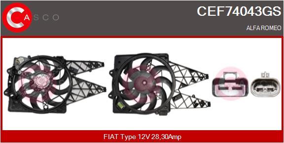 Moteur de ventilateur refroidissement CASCO CEF74043GS (X1)