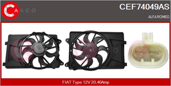 Moteur de ventilateur refroidissement CASCO CEF74049AS (X1)