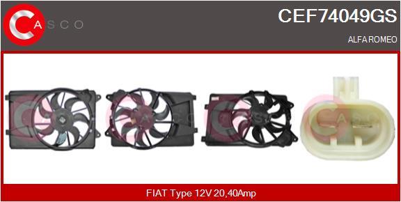 Moteur de ventilateur refroidissement CASCO CEF74049GS (X1)