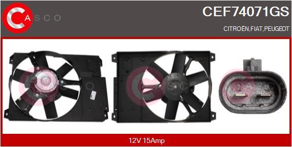 Moteur de ventilateur refroidissement CASCO CEF74071GS (X1)