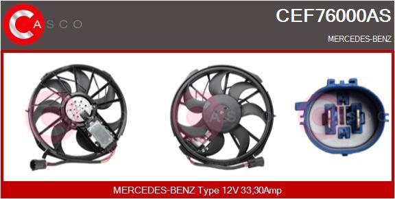 Moteur de ventilateur refroidissement CASCO CEF76000AS (X1)