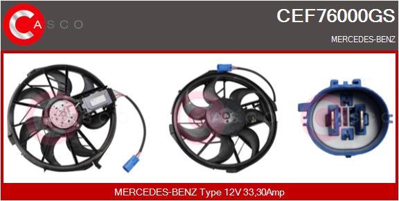 Moteur de ventilateur refroidissement CASCO CEF76000GS (X1)