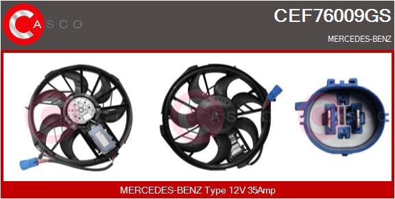 Moteur de ventilateur refroidissement CASCO CEF76009GS (X1)