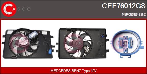 Moteur de ventilateur refroidissement CASCO CEF76012GS (X1)