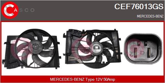 Moteur de ventilateur refroidissement CASCO CEF76013GS (X1)