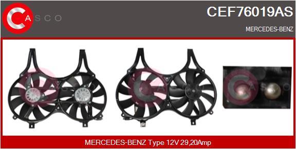 Moteur de ventilateur refroidissement CASCO CEF76019AS (X1)