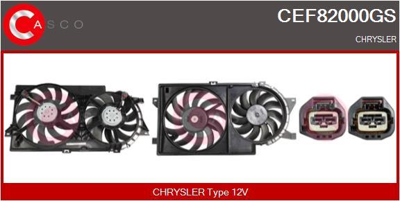 Moteur de ventilateur refroidissement CASCO CEF82000GS (X1)