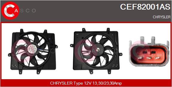 Moteur de ventilateur refroidissement CASCO CEF82001AS (X1)