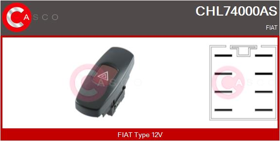 Commandes Eclairages / Signalisation/ Essuyage CASCO CHL74000AS (X1)