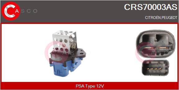 Resistance ventilateur CASCO CRS70003AS (X1)