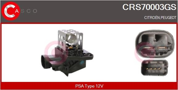 Resistance ventilateur CASCO CRS70003GS (X1)