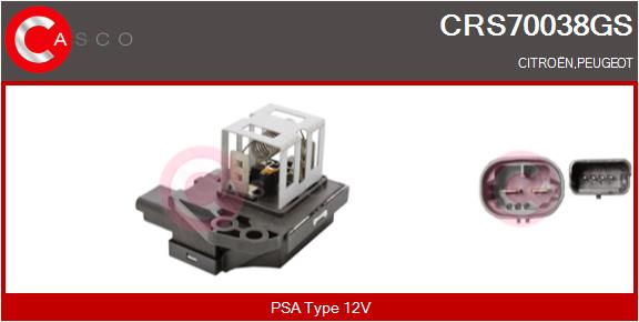 Resistance ventilateur CASCO CRS70038GS (X1)