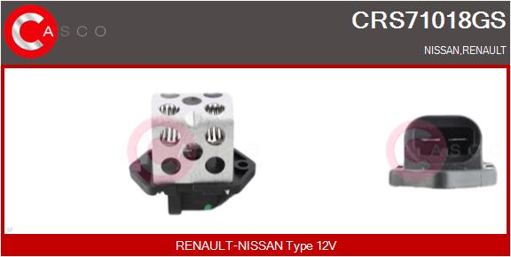 Resistance ventilateur CASCO CRS71018GS (X1)