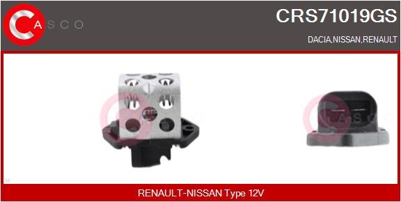 Resistance ventilateur CASCO CRS71019GS (X1)