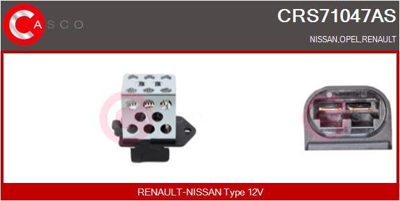 Resistance ventilateur CASCO CRS71047AS (X1)