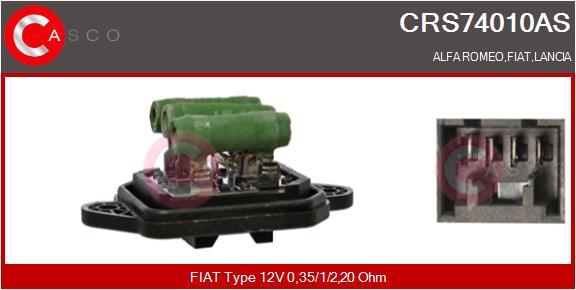 Resistance moteur de ventilateur de chauffage CASCO CRS74010AS (X1)