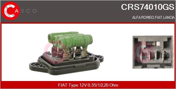 Resistance moteur de ventilateur de chauffage CASCO CRS74010GS (X1)