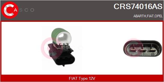 Resistance ventilateur CASCO CRS74016AS (X1)
