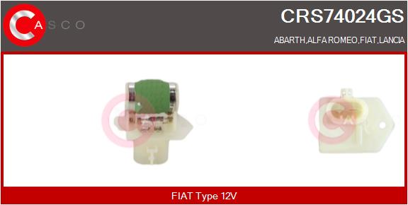 Resistance ventilateur CASCO CRS74024GS (X1)